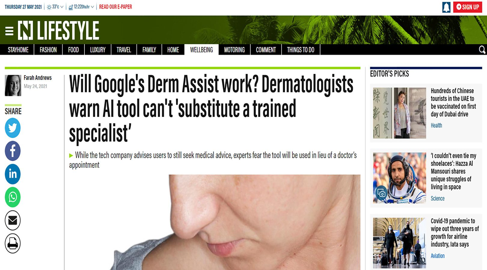Will Google's Derm Assist work? Dermatologists warn AI tool can't 'substitute a trained specialist'
